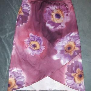 Other - 5/$25 sale.  IDFY girls L purple floral skirt